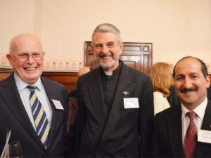 L:R David Daintree, Rev Warwick Cuthbertson, Peter Mansour